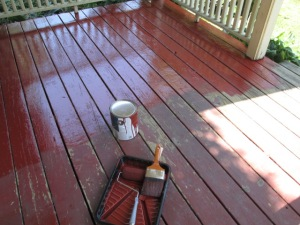 Painting our porch.