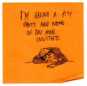 Pity Party Invitation to myself.