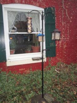 Our bird feeders