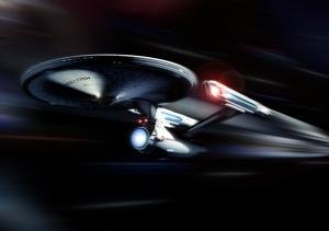 U.S.S. Enterprise at Warp Speed