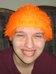 Funky orange hair
