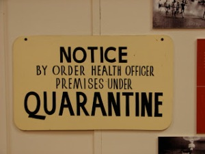 Old quarantine sign