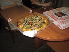 Yummy pizza for supper... (and breakfast)