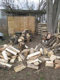 The wood EJ must split. He split quite a bit of it today.