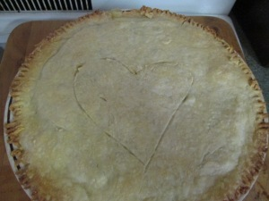 One of the homemade potpies, made with love.