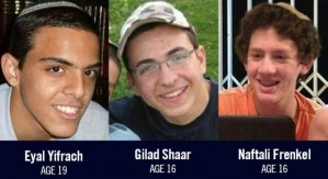 Kidnapped and murdered Israeli teens.