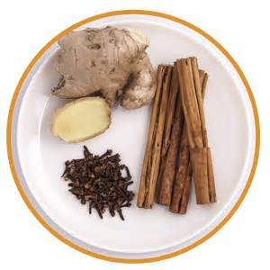 Ginger, cinnamon, and cloves