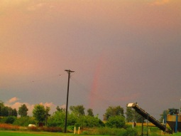 A final glimpse of the rainbow from the east end of town.