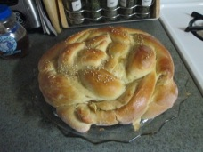 This is a closeup of my baked Challah.