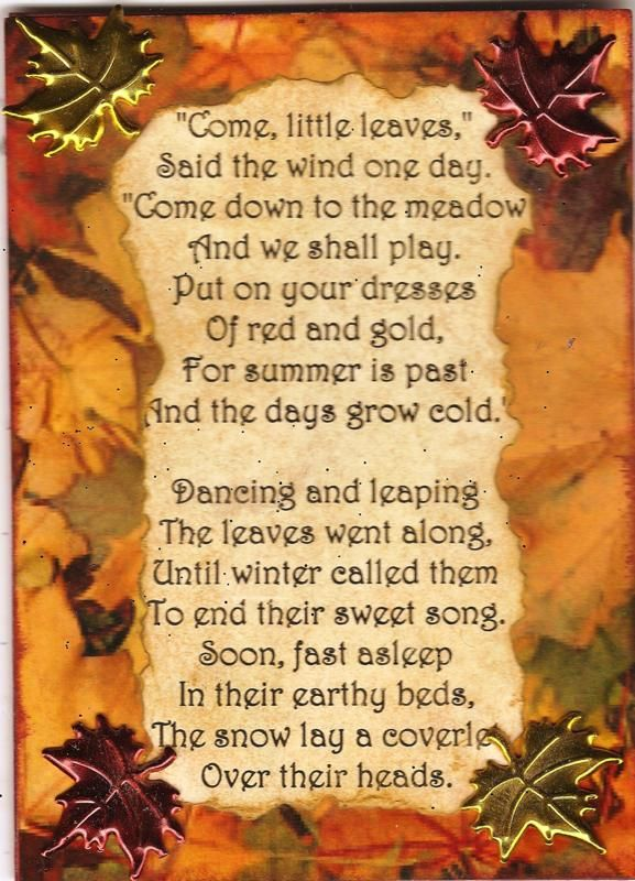 Autumn Come Leaves