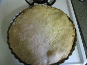 My homemade chicken pot pie.