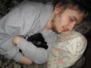 JJ sleeping with Luke.
