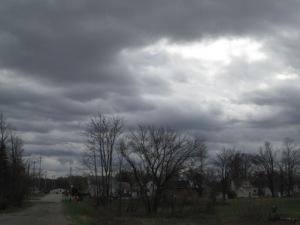 Cloudy November day.