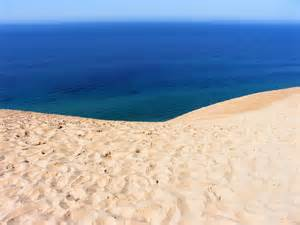 Lake Michigan beyond the dune.
