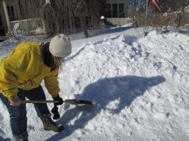 Me shoveling
