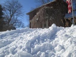A mountain of snow