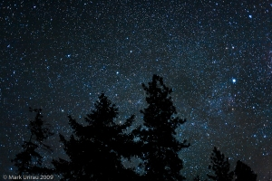 Night Sky. Photo by Mark Unrau 2009.