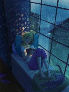 I love rainy days. Photo from Pinterest.
