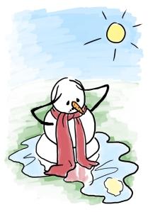 Melting in the hot sun