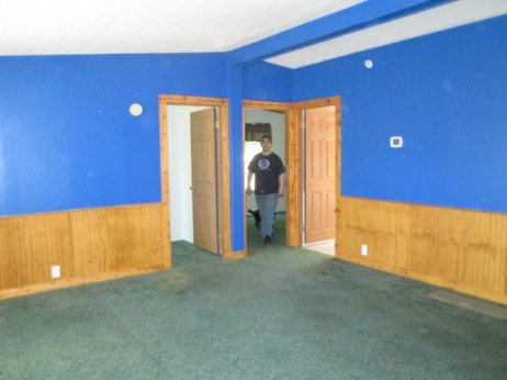 The room was blue when we first moved in.
