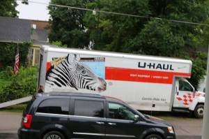 The U-haul. My friend Sandy took this picture.