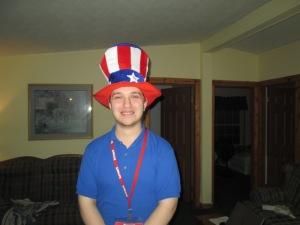 JJ in his patriotic hat.