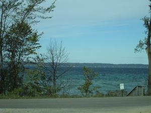 The road followed the coast