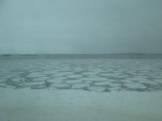 Ice chunks in the lake
