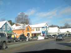 We drove through cute little towns