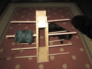 The yarn holder that EJ is making me.