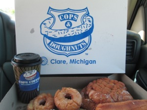 Our yummy coffee and donuts!