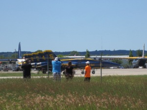 We enjoyed the Blue Angels with a small group of others.