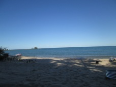 Our friend's beautiful private beach on Lake Huron