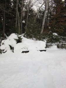 The Magic Box buried in snow.
