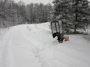 I managed to get the snowblower to this place