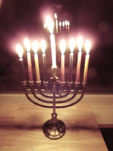 The eighth night of Hanukkah.