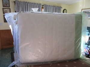 Our mattress is finally delivered!