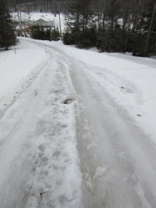 Our icy driveway