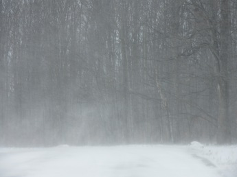 Wind blowing the snow.