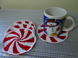 Peppermint Coasters sold by Teric's Treasures at Etsy
