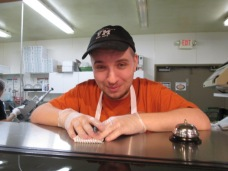 JJ working in the deli