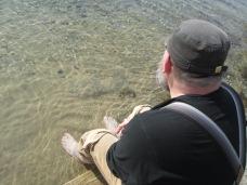 EJ enjoying lake