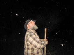 EJ on a snowy night