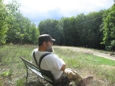 EJ enjoying our land