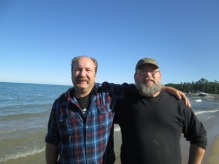 Friends at Lake Huron