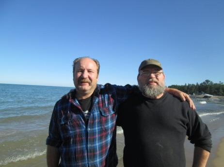 Friends at Lake Huron