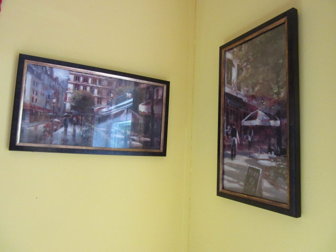 Our impressionist paintings of an outdoor cafe