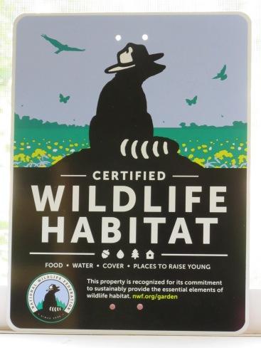 Our Wildlife Habitat sign