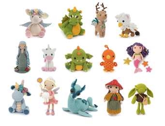 These are the adorable critters from the pattern book.