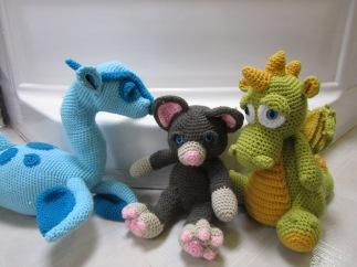 Loch Ness Monster, Cat, Dragon